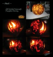 WoW Skoll Pumpkin Carving 2010 by The-Bluetip