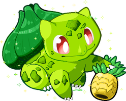 Shiny Bulbasaur by Willow-Pendragon