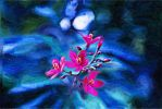 Oil Painting : Blue-n-Pink by anamika11