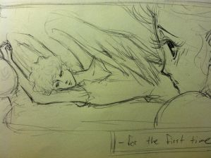 sketch: Eros and Psyche