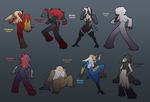 Blaziken Crossbreeds by KingKaijuice