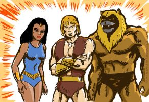 Team Thundarr in color by TheCosmicBeholder