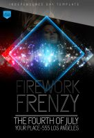 Firework Frenzy PSD FlyerFREE DOWNLOAD! by ImperialFlyers