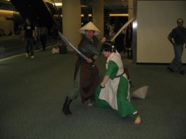 Zuko and Toph by Nammi
