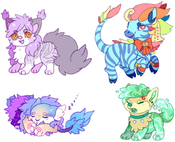 more chibis by Fluffily