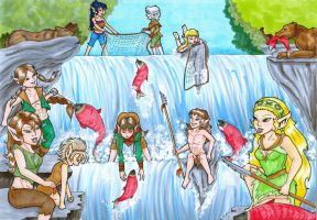Elfquest RTH - Gone Fishin' by queststar