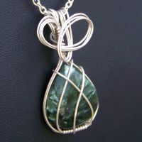 Seraphinite Pendant in Silver by innerdiameter