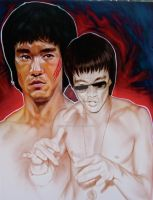 Bruce 'the dragon' Lee by TheArtofAir