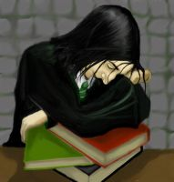 Snape and Books by qui-quae-quod