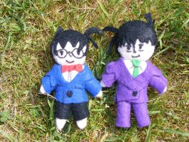 Conan and Shinichi by Charlotte-Holmes
