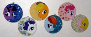 Mane 6 hoop art by Throughawolfseyes