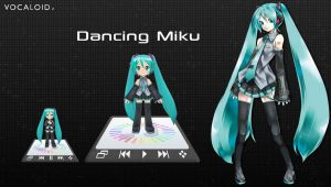 Dancing Miku Player for XWidget by Ruby by xwidgetsoft