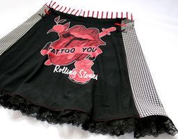 Rolling Stones skirt 2 by smarmy-clothes