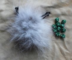 Wolf fur dice bag by lupagreenwolf