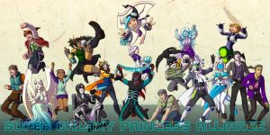 SGPA ANNI - collage of my characters by Meibatsu