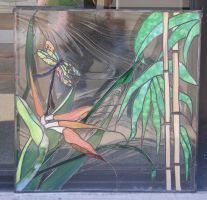 Bird of Paradise w Dragonfly by CeltCraft