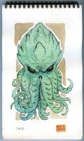 Cthulhu sketch monsters 03 by mdavidct