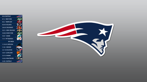 New England Patriots 2013 Schedule Wallpaper by SevenwithaT