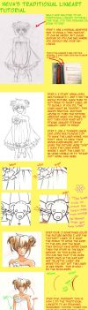 Neva's traditional lineart tutorial by Nevaart