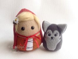 Custom Little Red Riding Hood and Wolf Plushies by Saint-Angel