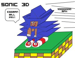 SANIC - BUT IN 3D! by unimpeachable