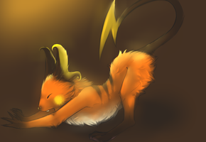 Raichu has an epic stretch. by possim