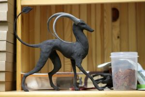 Realistic Houndoom WIP by hontor