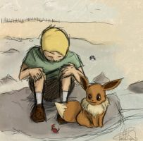 Kyle and Eevee by Phran-kill-in