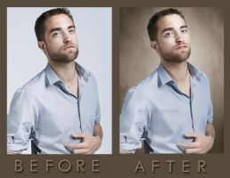 Robert Pattinson Before and After by debzdezigns-lamb68
