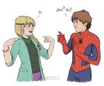 Spider-Hiccup and Gwenstrid by Mariey