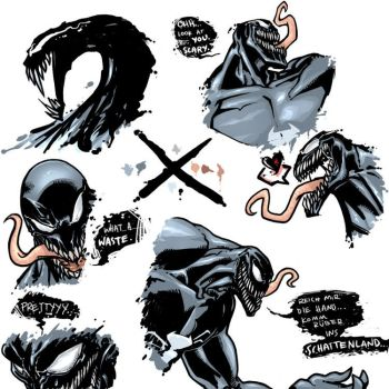 Venom Doodles by SilverCoils