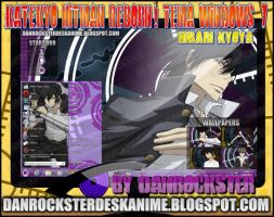 Hibari Kyoya Tema Windows 7 by Danrockster