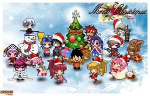 GrandChase Christmas Wallpaper -Contest Entry by GcPhLai