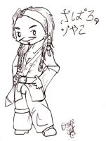 Jack Sparrow Chibi Guy by cheesyhairball