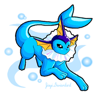 Bubbly Vaporeon by Jiayi