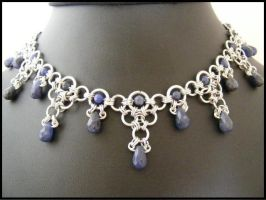 Sodalite Drops and Aluminum by BacktoEarthCreations