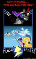 Flash Sentry Movie Poster (fake) by Vector-Brony