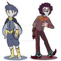 Swordfish Prince and Principe de los Muertos by MissPomp