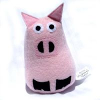 Stuffed Pig Plush toy by ZodiacEclipse