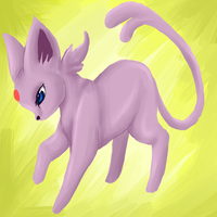 Espeon by Blood-Charm