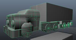 3D Model Truck Front View by sonicbommer