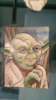 Yoda sketch card by Nick-OG