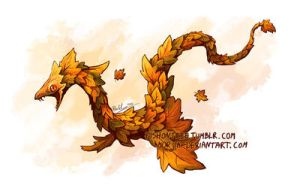 autumn serpent by morjia