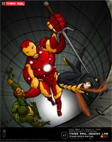 TRDL - Iron Man vs. Wasp+ TMNT by TRDLcomics