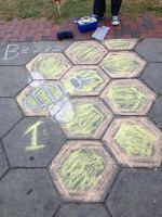 Brighten Up Broad - Chalk Art Honeycomb by wiebkefesch