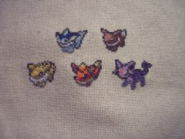 Just some Eevee evolutions by HopperARTZ