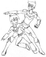 LOSH:  Brainiac 5 Sketches by mystryl-shada