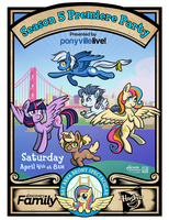 My Little Pony Season 5 Premiere Party by SouthParkTaoist
