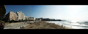 Panorama of La Grande Plage by Tom-Mosack