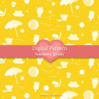 Beachy Summer Seamless Pattern by electrifried